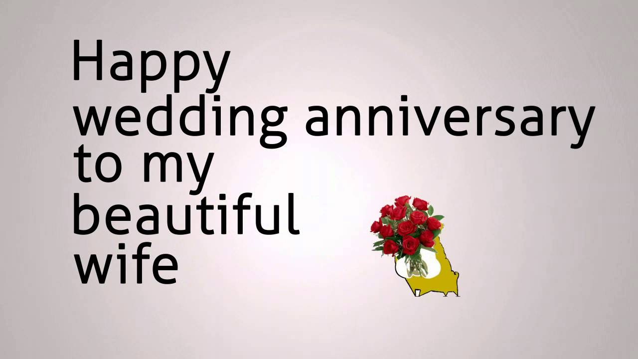 Happy anniversary greetings for my beautiful wife nicewishes