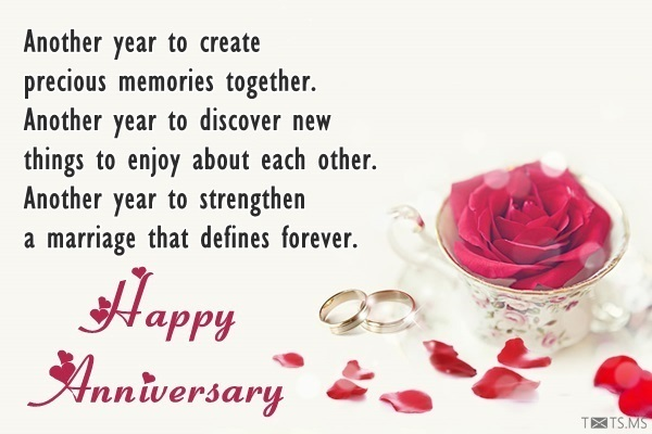 Happy Anniversary Wishes With Message And Rose Petals