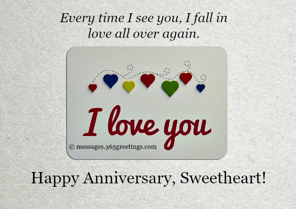 Happy anniversary wishes for sweetheart with i love you
