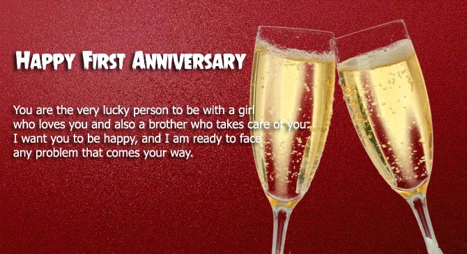 Happy First Anniversary Greeting Card Wishes