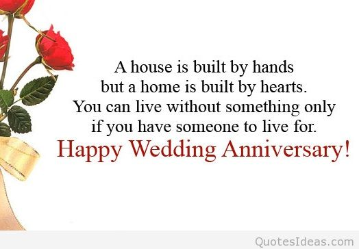 Happy Wedding Anniversary Quote With Blessing