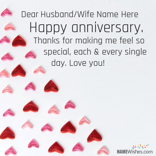 Happy Wedding Anniversary Wishes With Stupendous Love