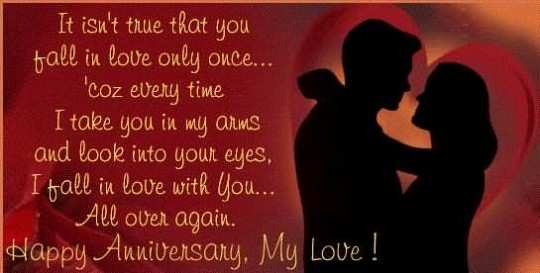 Love Wishes For Anniversary With Message