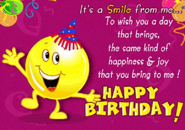 Lovely B'day Message With Happiness Message