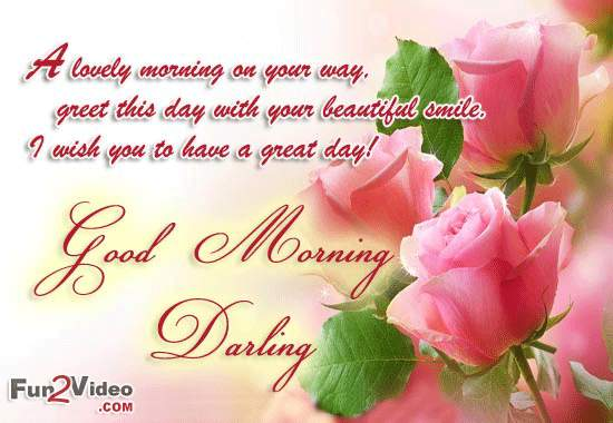 Morning Wishes For Darling With Love