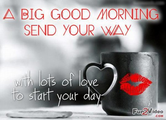 Morning Wishes For Love With Kiss