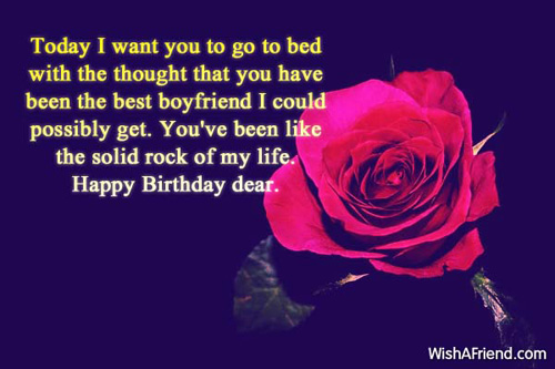 Best romantic birthday wishes for boyfriend