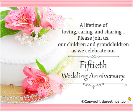Wedding Anniversary Fiftieth  With Lovely Message