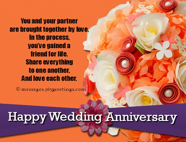 Wedding Anniversary Greetings With Lots Of Flowers