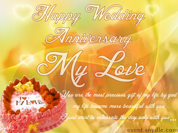 Wedding Anniversary Wishes For Love With Quote
