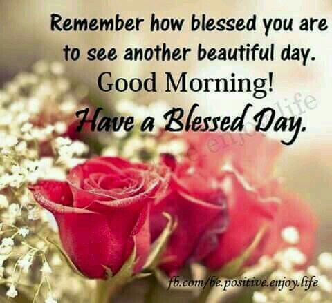 Wishing Morning With Blesses