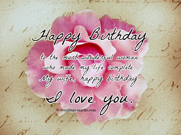 happy bday quote for beautiful wife with love nicewishes