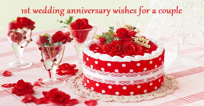 St wedding anniversary wishes with cake nicewishes