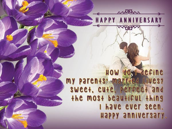 Sweet poem anniversary wishes for parents nicewishes
