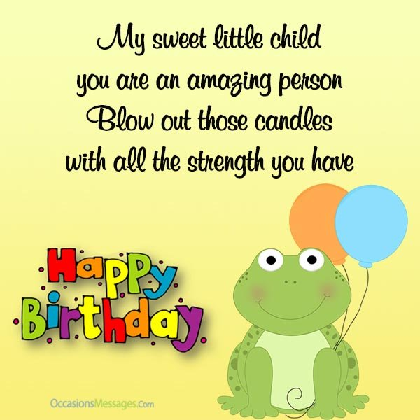 Awesome birthday card with greeting quotes for my little sweet awesome birthday card for my little sweet child bookmarktalkfo Choice Image
