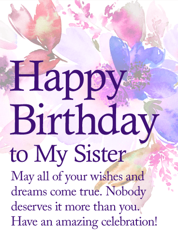 Awesome Birthday E-Card For My Lovely Sister