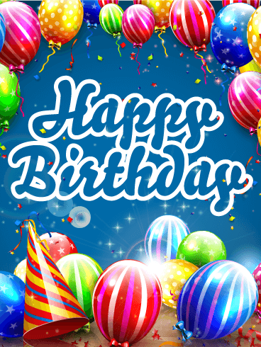 Awesome Birthday E-Card With Celebration Of Life