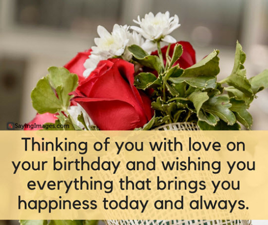 Awesome Birthday Quote With Red Rose