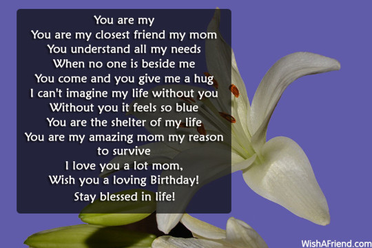 Best Birthday Poem For Great Mom