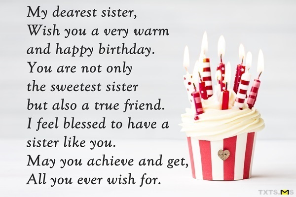 Best Ever Birthday Wishes With Quotes For My Sister Nice Wishes