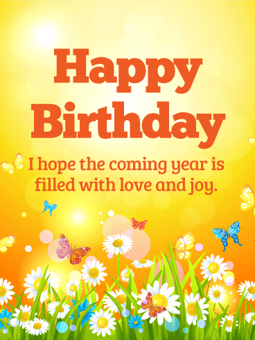 Birthday E-Card With Best Wishes For A Creative Day