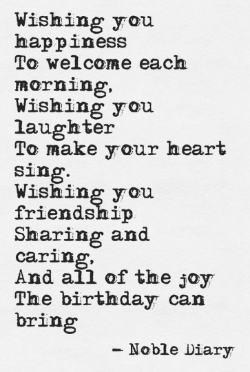 Birthday Poem With Gift Of Friendship