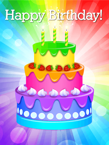 Colorful Birthday Cake For A Charming Person