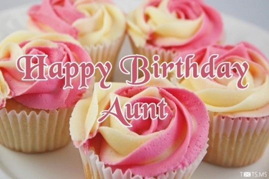 Creamy Cupcake Image For Wonderful Aunt Birthday