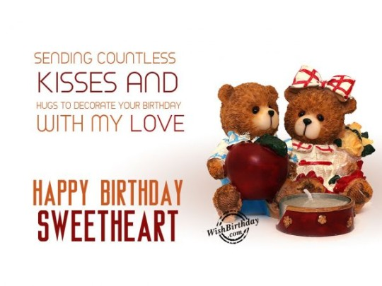 Cute Birthday Wishes With Lots Of Hugs