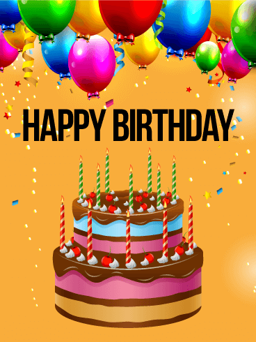 Birthday Cake Images Card : Joyful Birthday Cake Card For A Special Occasion - NiceWishes