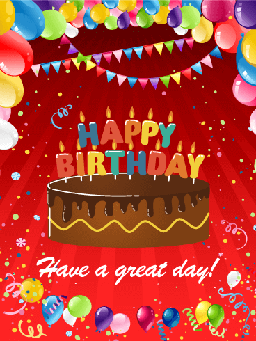 Delightful Birthday E-Card With Sparkling Canldes