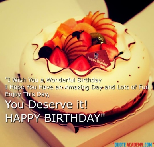 Delightful Birthday Quote With Savory Cake