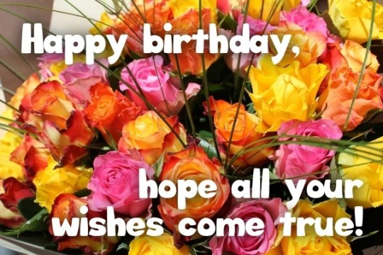 Fabulous Birthday Wishes With Floral Backgournd