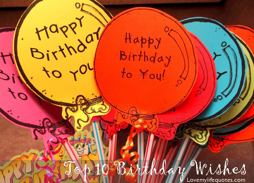 Fabulous Birthday Wishes With Handmade Balloons Nice Wishes