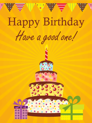 Famous Birthday Wishes Card With Cake For Sweet Kids Nicewishes
