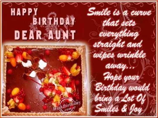 Fantastic Birthday Wishes With Lots Of Joy And Fun For Aunt
