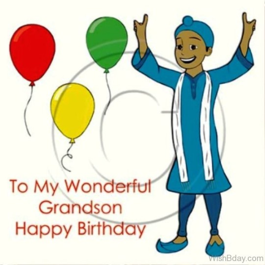 Fantastic Grandson Birthday Card With Full Of Enjoyment