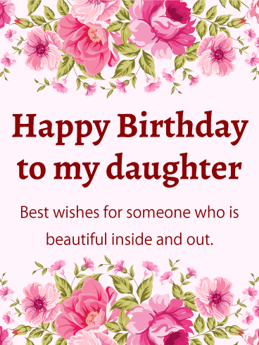 Floral Birthday E-Card For Daughter