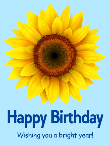 Floral Birthday E-Card With Best Wishes