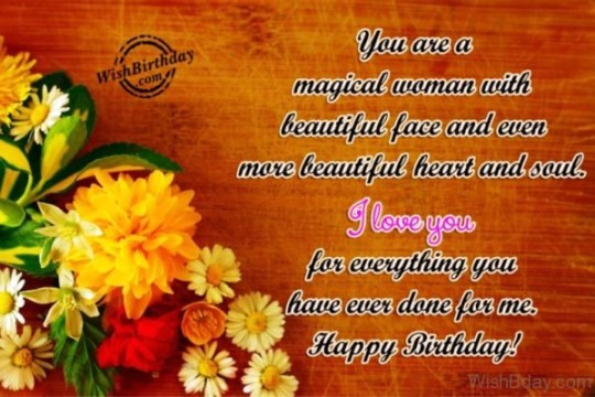 Floral Birthday Image With Beautiful Message For A Great Day