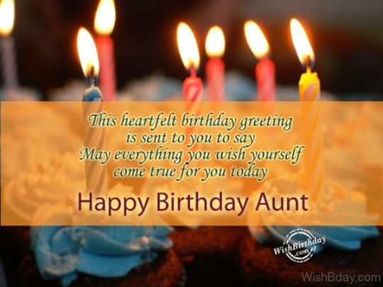 Glowing Birthday Wishes For My Aunt