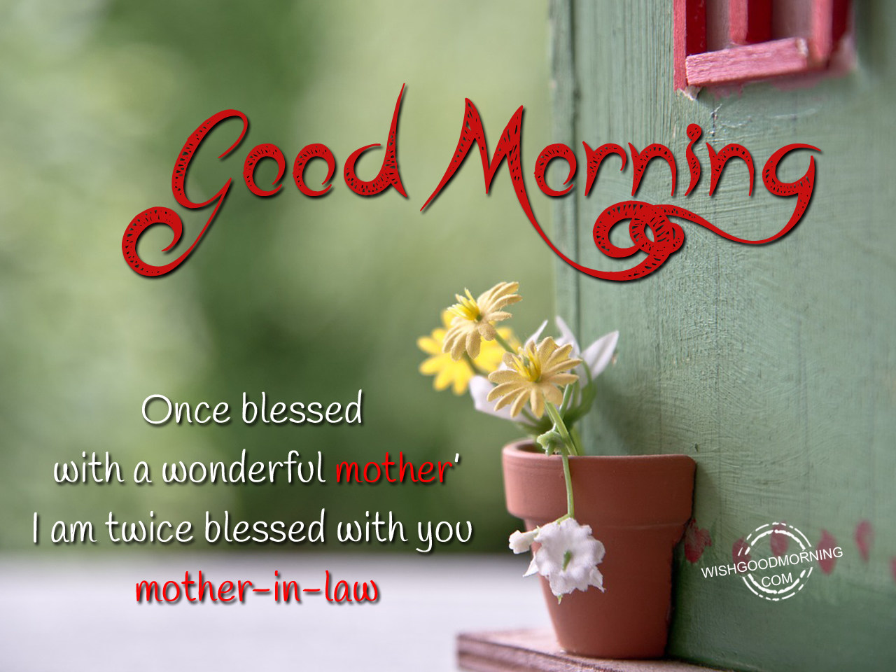 Good Morning Greetings For Mother In Law With Blessings Nicewishes