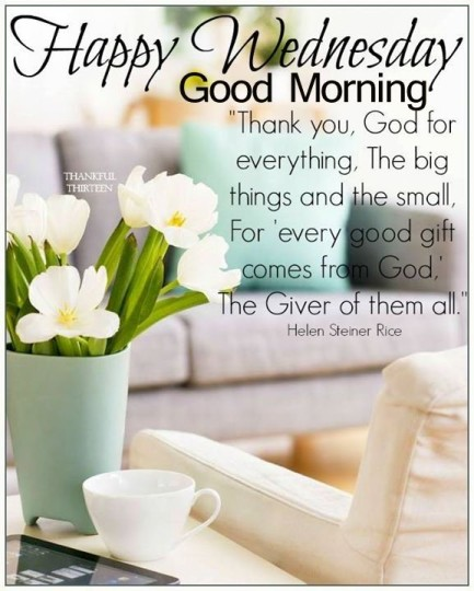 Good Morning Sayings And Quotes For Wednesday