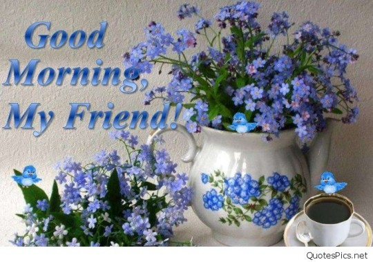 Wonderful Good Morning Wishes For My Friends With Flowers