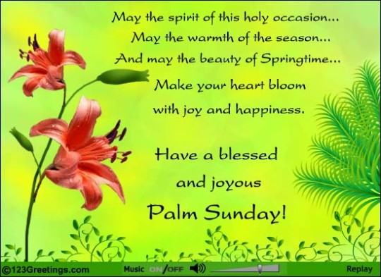 Good Morning Wishes For Palm Sunday