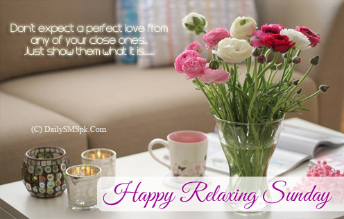 Good Morning Wishes For Relaxing Sunday
