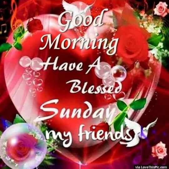 Good Morning Wishes For Sunday Morning With Blessings