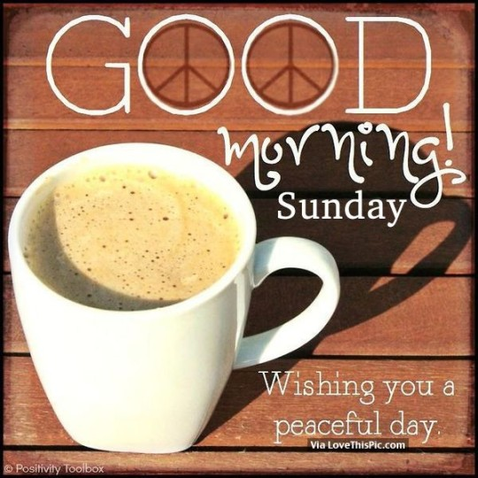 Good Morning Wishes For Sunday Morning With Cup Of Coffee