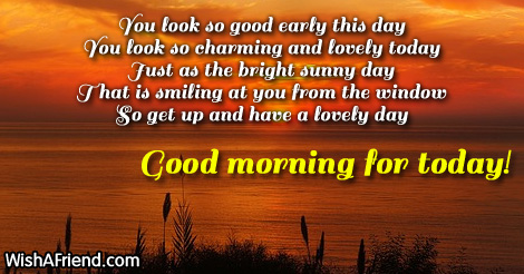 Good Morning Wishes For Today