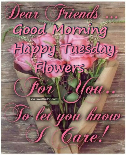 Good Morning Wishes For Tuesday Morning With Bouquet Of Roses